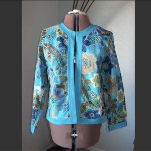 Chico's Plus Size 2 1X XL Blazer Jacket Vintage